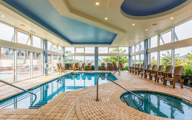Indoor Heated Saltwater Pool and Spa