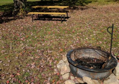New River Cabins #1-#7 picnic table & Fire ring