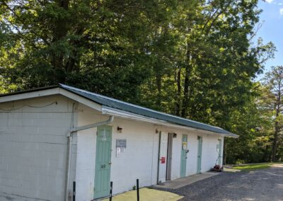 New River Gorge Campground bathhouse & free laundry to use
