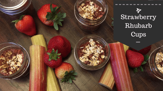Strawberry rhubarb cups