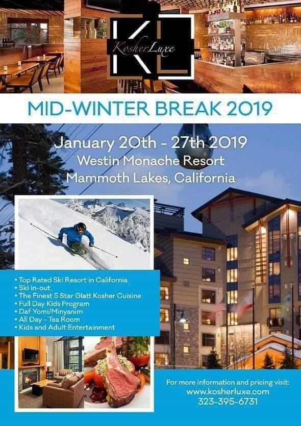 Mid-Winter Yeshiva Break Kosher Program 2019 - KosherGuru