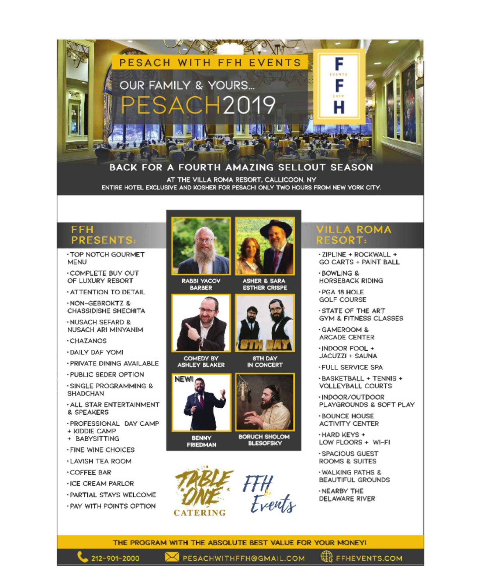 Pesach with FFH Events - KosherGuru - Bringing Anything and