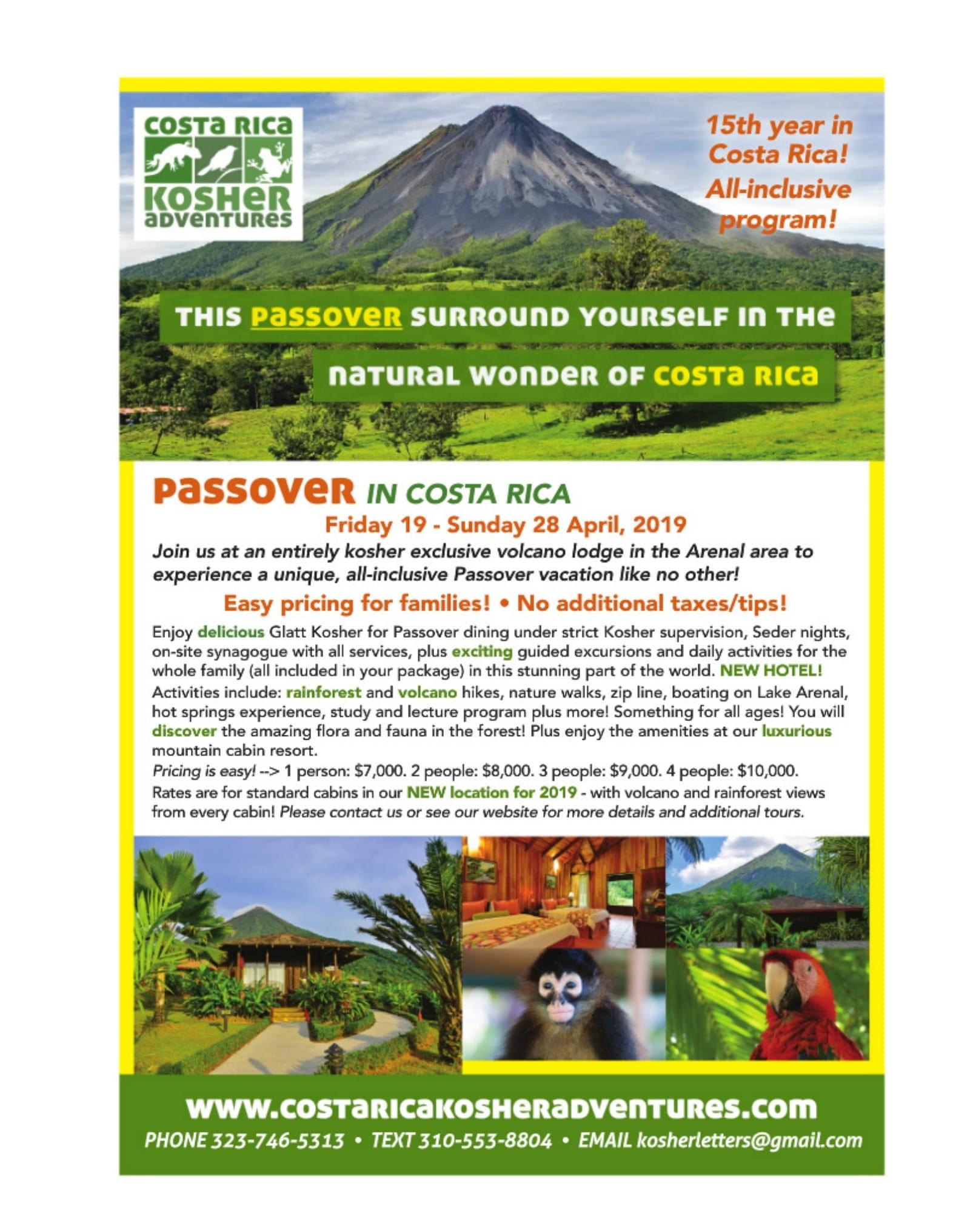 Pesach in Costa Rica - KosherGuru - Bringing Anything and