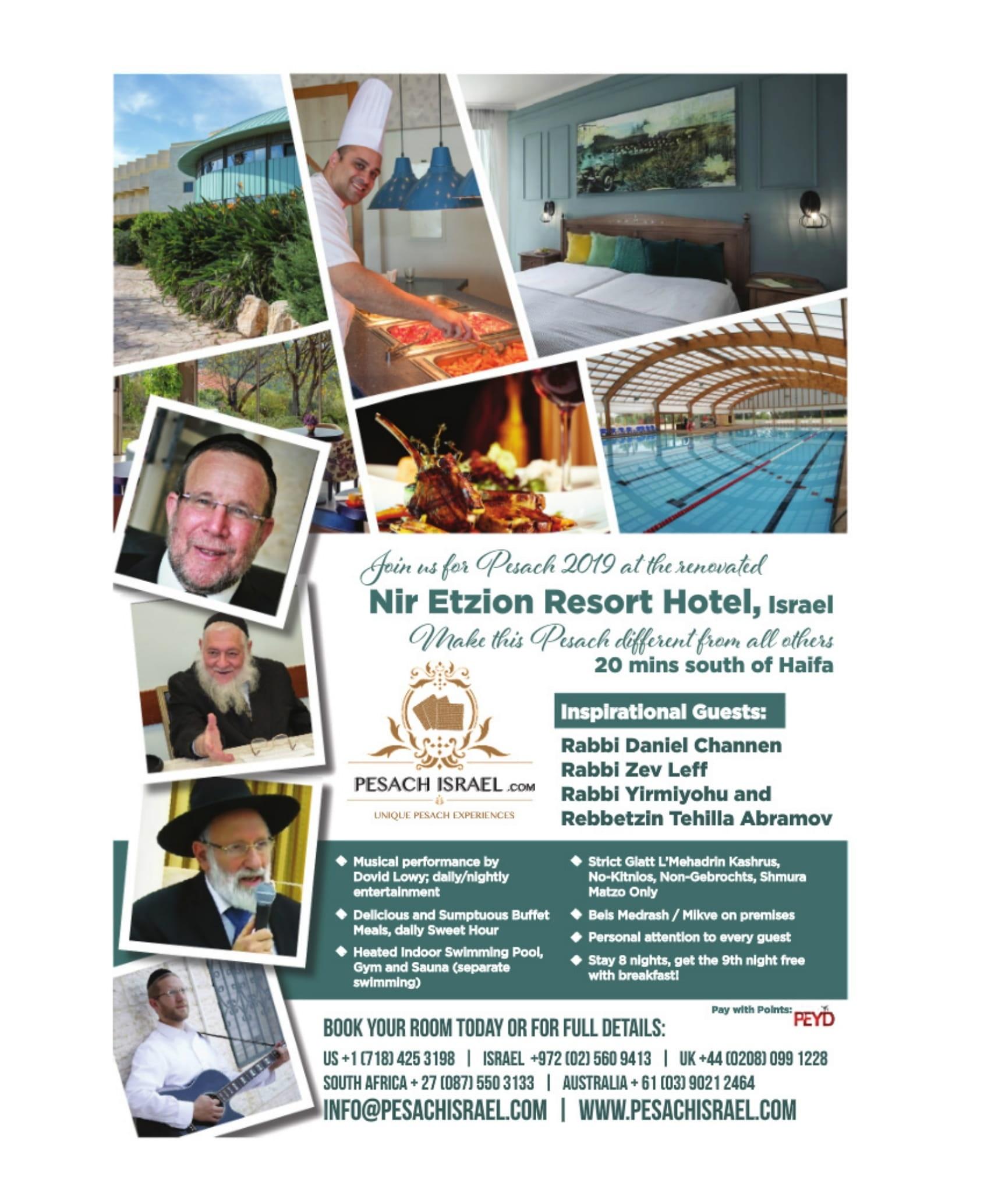 Pesach in Nir Etzion Resort Hotel, Israel - KosherGuru