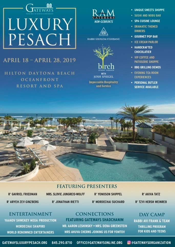 Gateways presents Pesach in sunny Florida - KosherGuru - Bringing