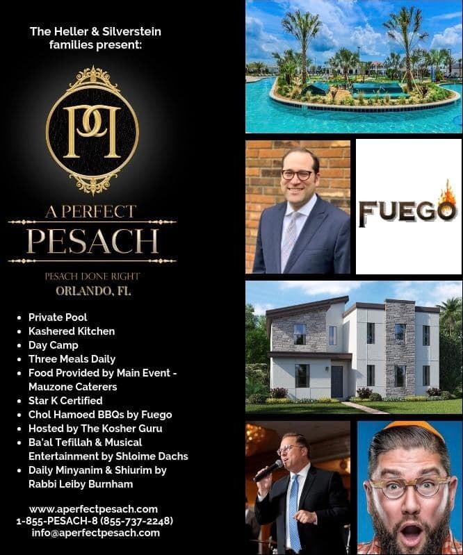 A Perfect Pesach in Orlando Florida - KosherGuru - Bringing Anything