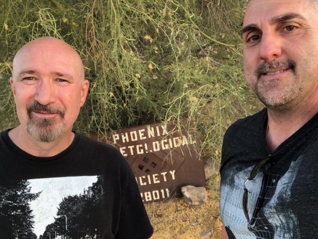 Papa Joey & Keith outside The Phoenix Herpetological Sanctuary