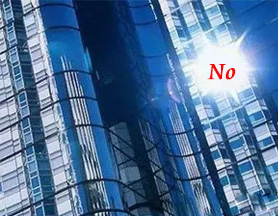 Use less glass curtain wall and more wall greening