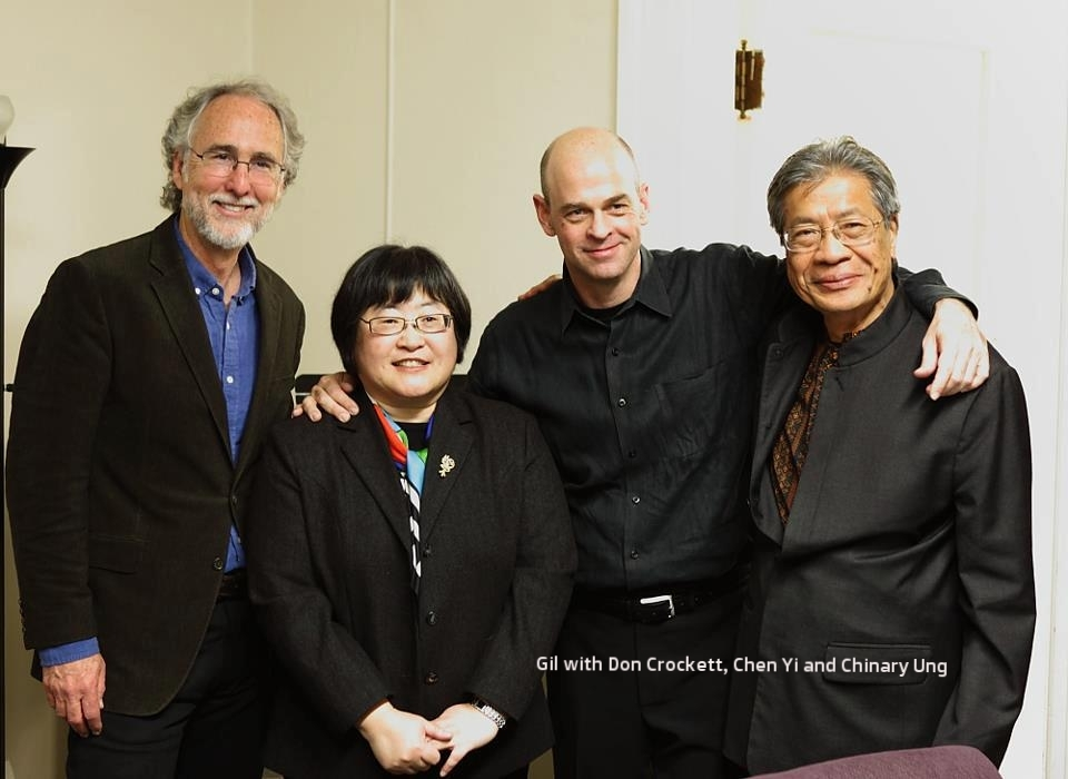 Gil with Don Crockett, Chen Yi and Chinary Ung