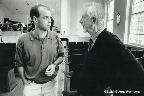 Gil with George Rochberg