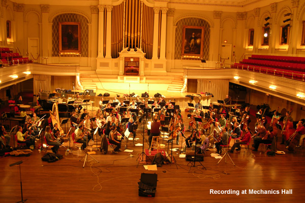 Recording at Mechanics Hall