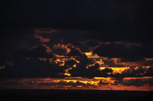 playa ventanas sunset clouds