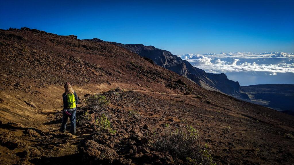 View hiking into Haleakala