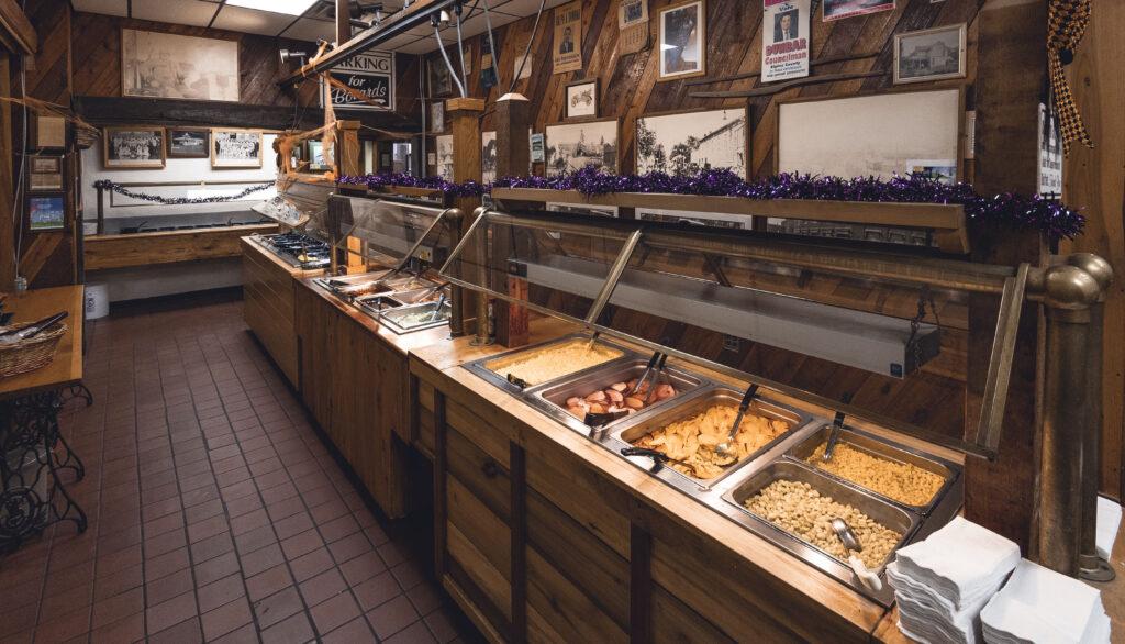 Food buffet at Osgood Grub Company restaurant.