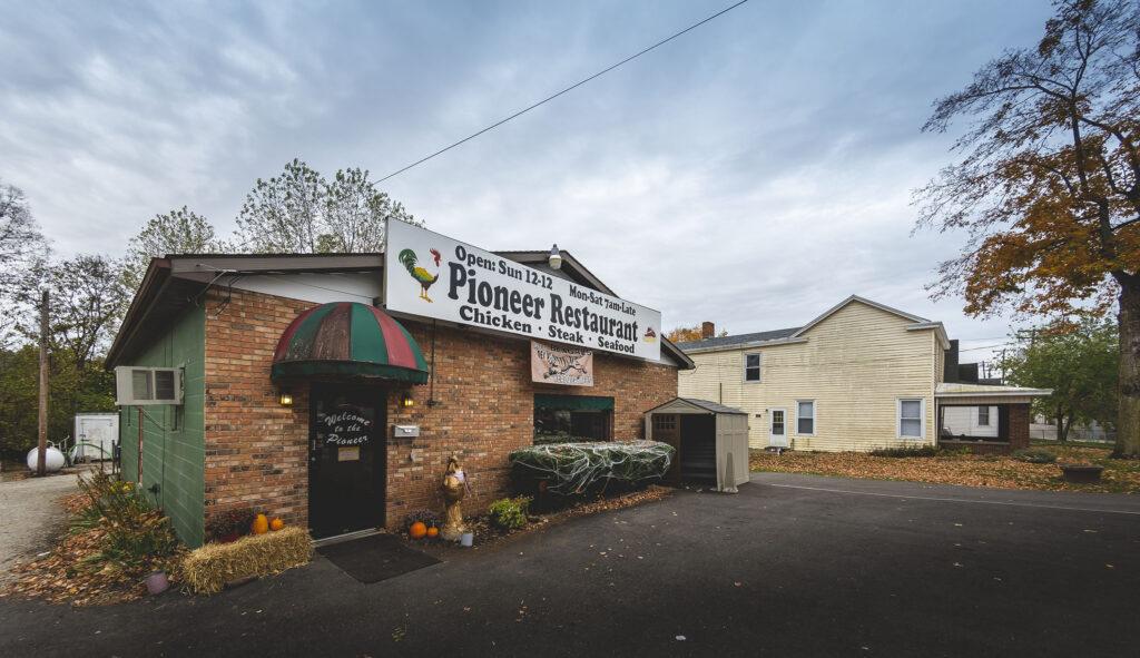 Chicken Trail member the Pioneer Restaurant exterior in Brookville, Indiana.