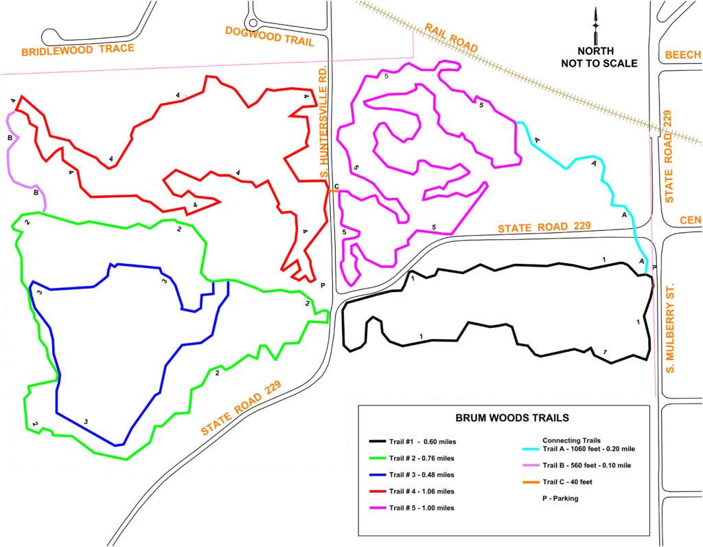 Map of Brum Woods.