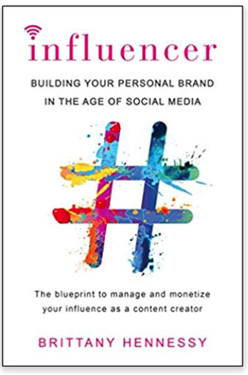 Book title - Influencer: Building Your Personal Brand in the Age of Social Media.