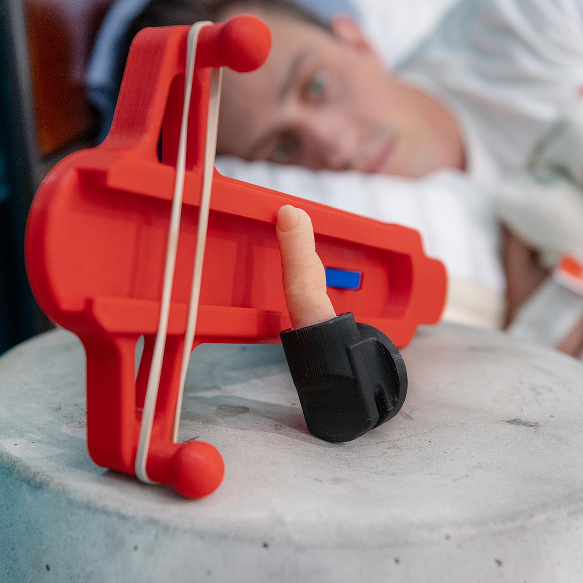 Bedtime Finger Blaster - Unnecessary Inventions