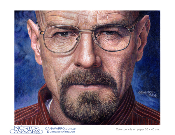 Hyperrealistic Breaking Bad Drawing