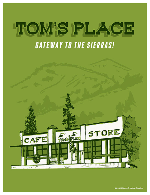 Tom's Place Travel Poster
