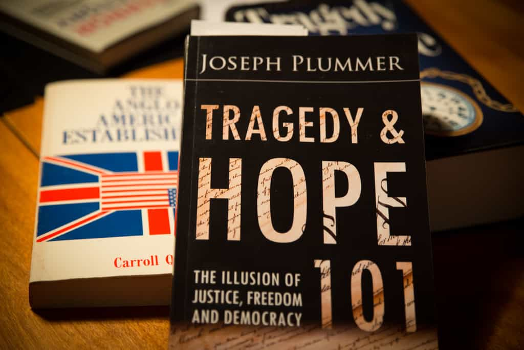 "The Deep End with author Joseph Plummer / ""Tragedy and Hope 101: The Illusion of Justice, Freedom and Democracy"""