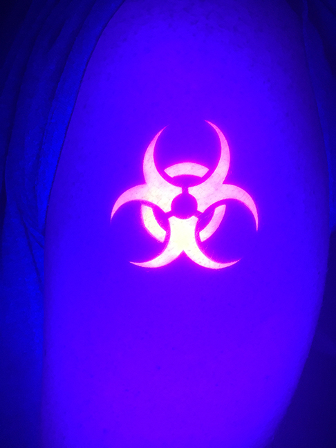 Blacklight Airbrush Tattoo-2
