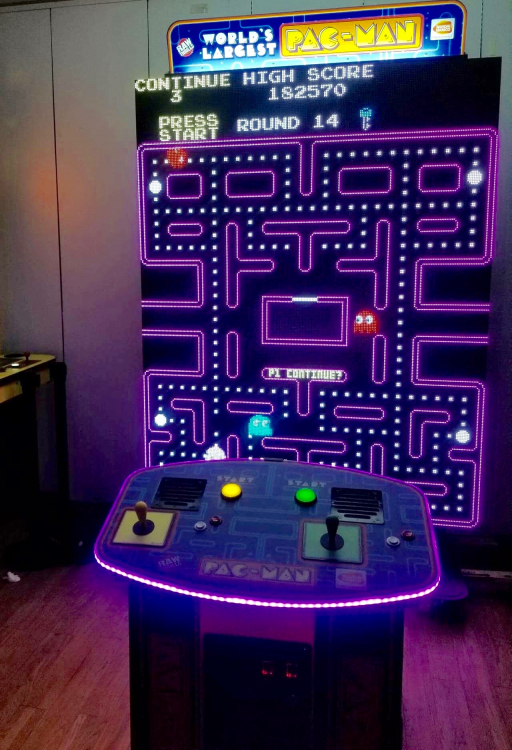 World's Largest PacMan/Galaga