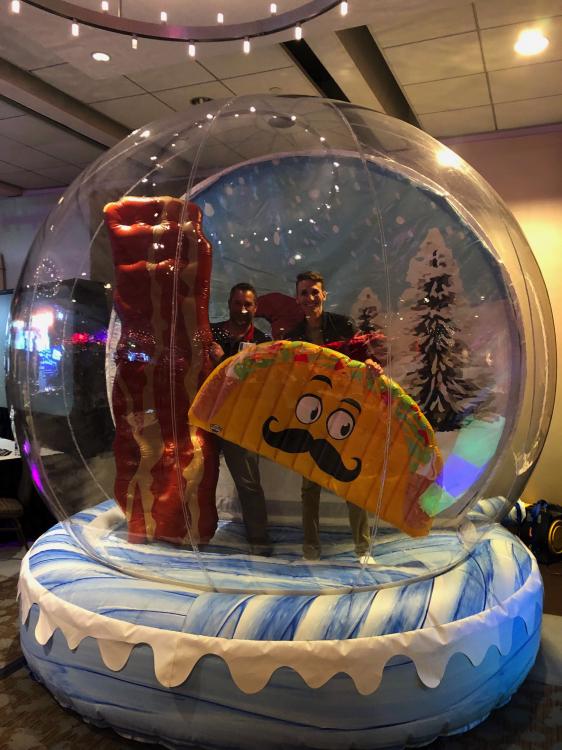 LED Human Snow Globe