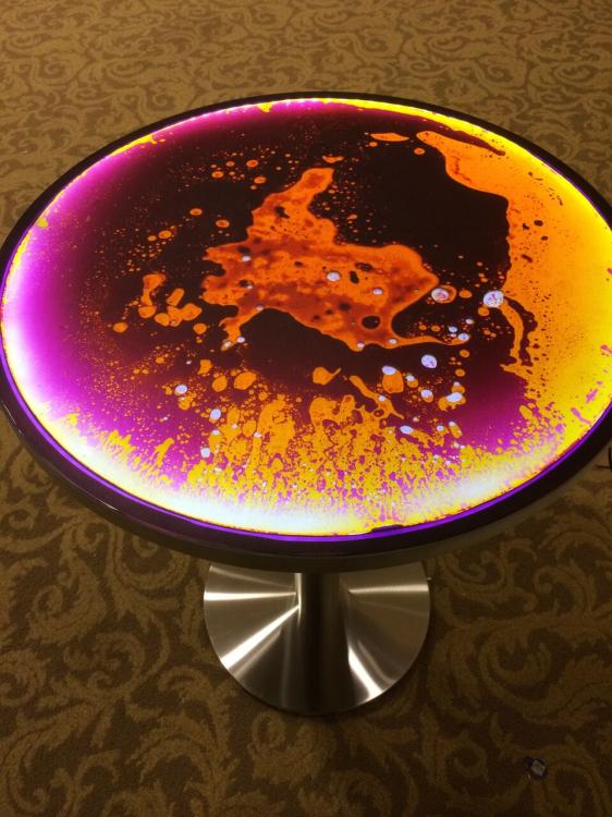 Liquid Lava Cocktail Table