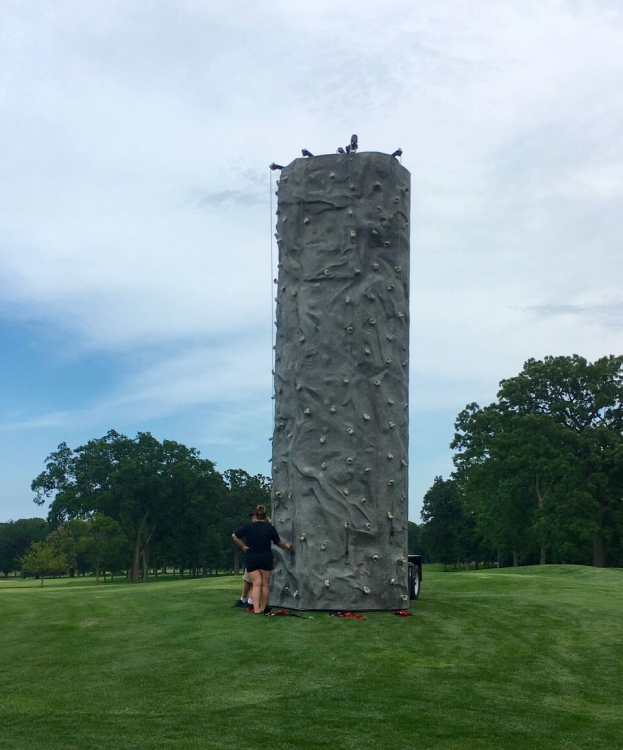 24-Foot Rock Wall