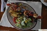 Villa Leonor en Uvita restuarnt shrimp