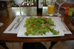 green salad from citrus restaurant ojochal