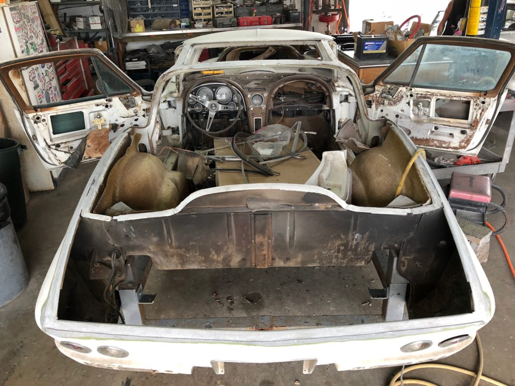 1966 Corvette Coupe Birdcage Repair and Chassis Restoration