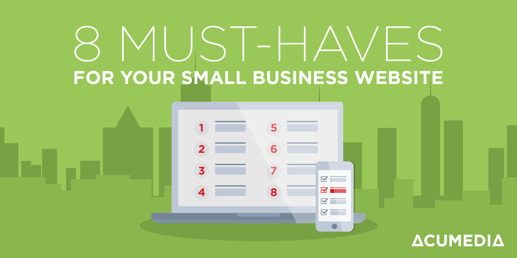Top 8 essential elements that you must-have for your small business website to succeed