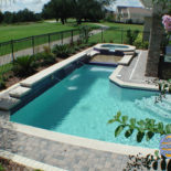 Pool with Large Retaining Wall and Spill Over