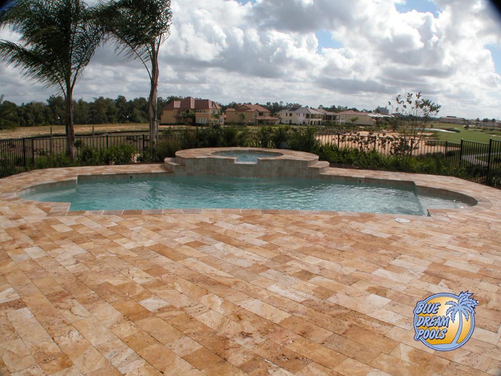 Large Patio Custom Pool