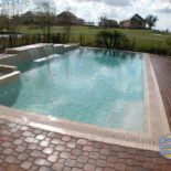 Large Rectangular Pool Flat Edge