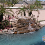 Stone Water Feature in Pool