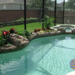 Custom Pool with Landscaping and Spa