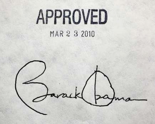 President Obama signed the Affordable Care Act into law on March 23, 2010.