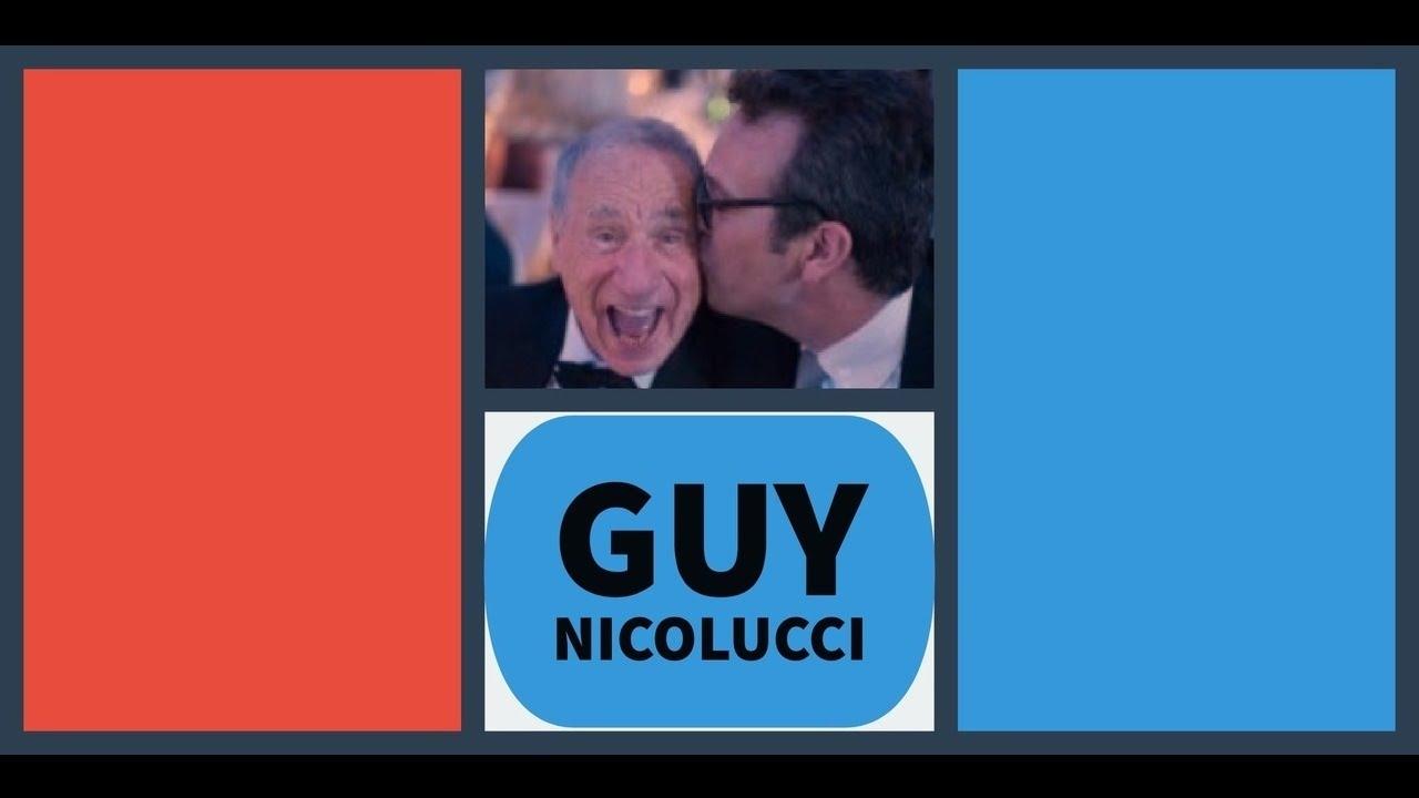 Comedy Writer Guy Nicolucci Kisses Mel Brooks