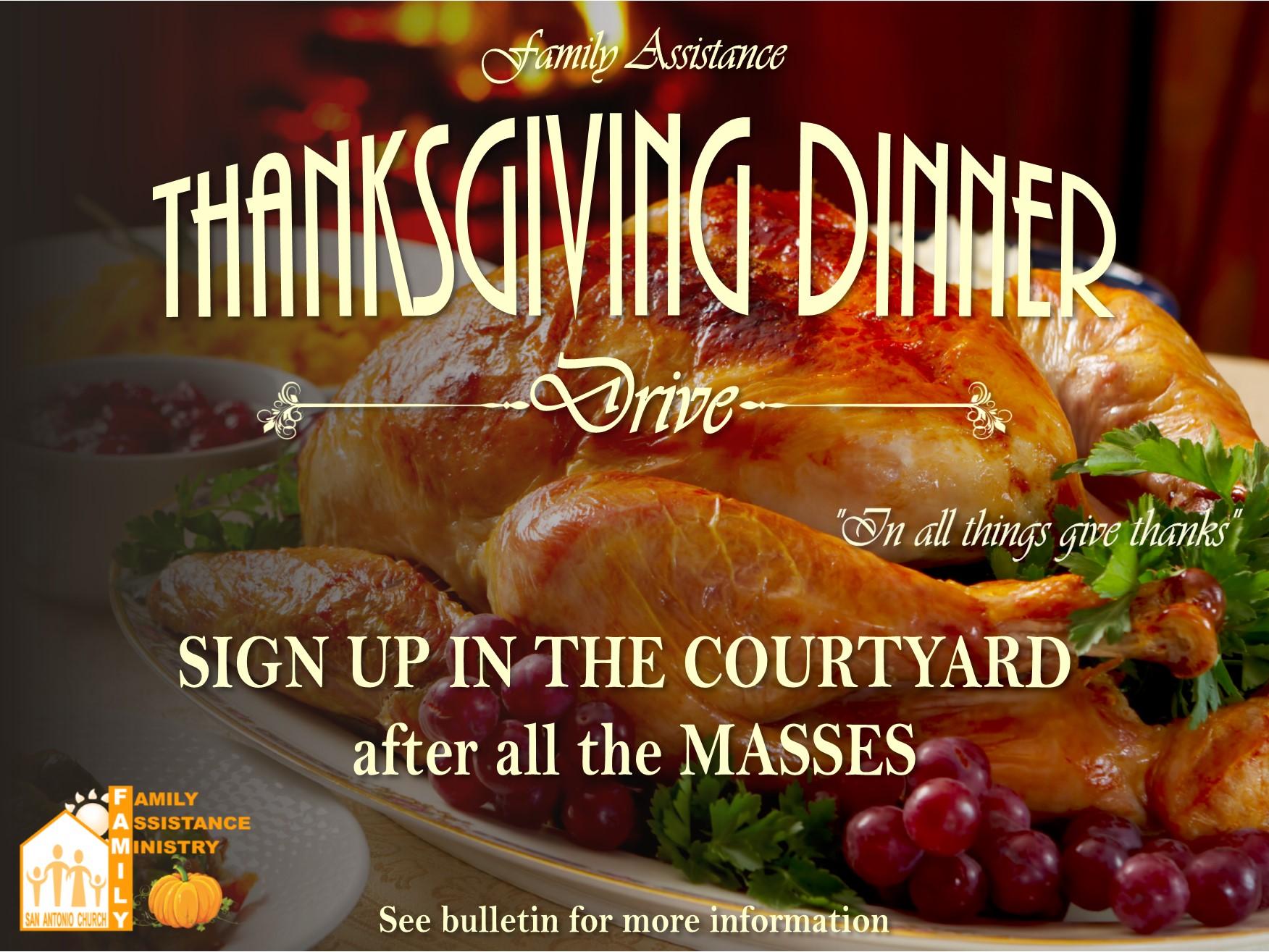 Thanksgiving Dinner Drive