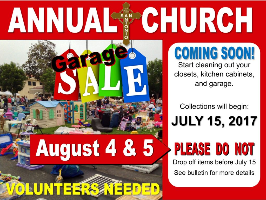 Garage Sale | San Antonio Catholic Church