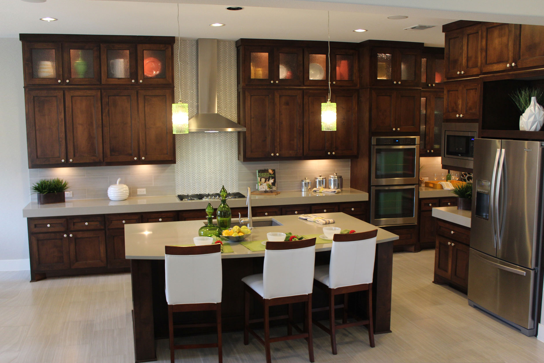 Kitchen cabinet 4 by Burrows Cabinets with Terrazzo doors