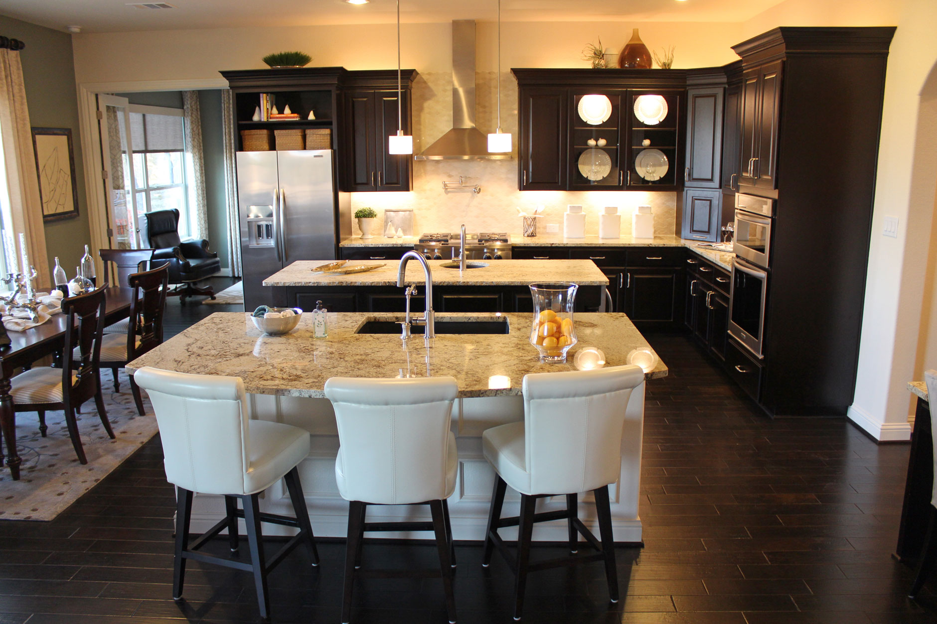 Kitchen cabinet 5 by Burrows Cabinets in Espresso with double island
