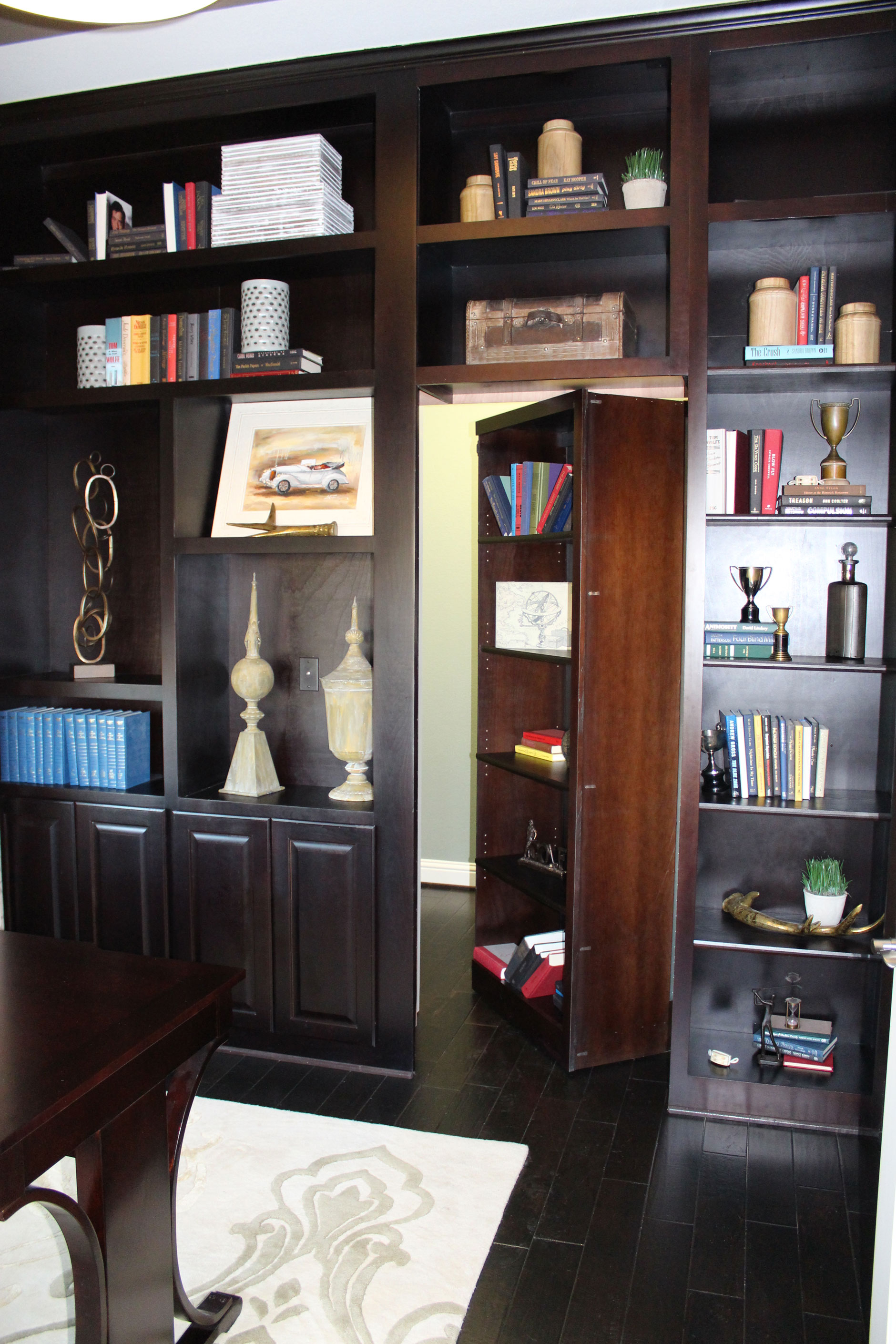 Office cabinets with secret door by Burrows Cabinets