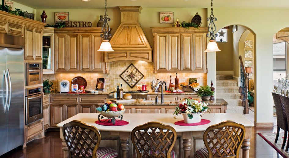 Burrows Cabinets kitchen cabinet with Elegant wood vent hood