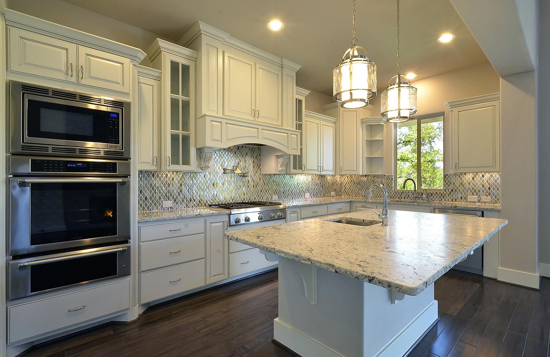 Model Home Kitchen Cabinets In Bone White Burrows Cabinets