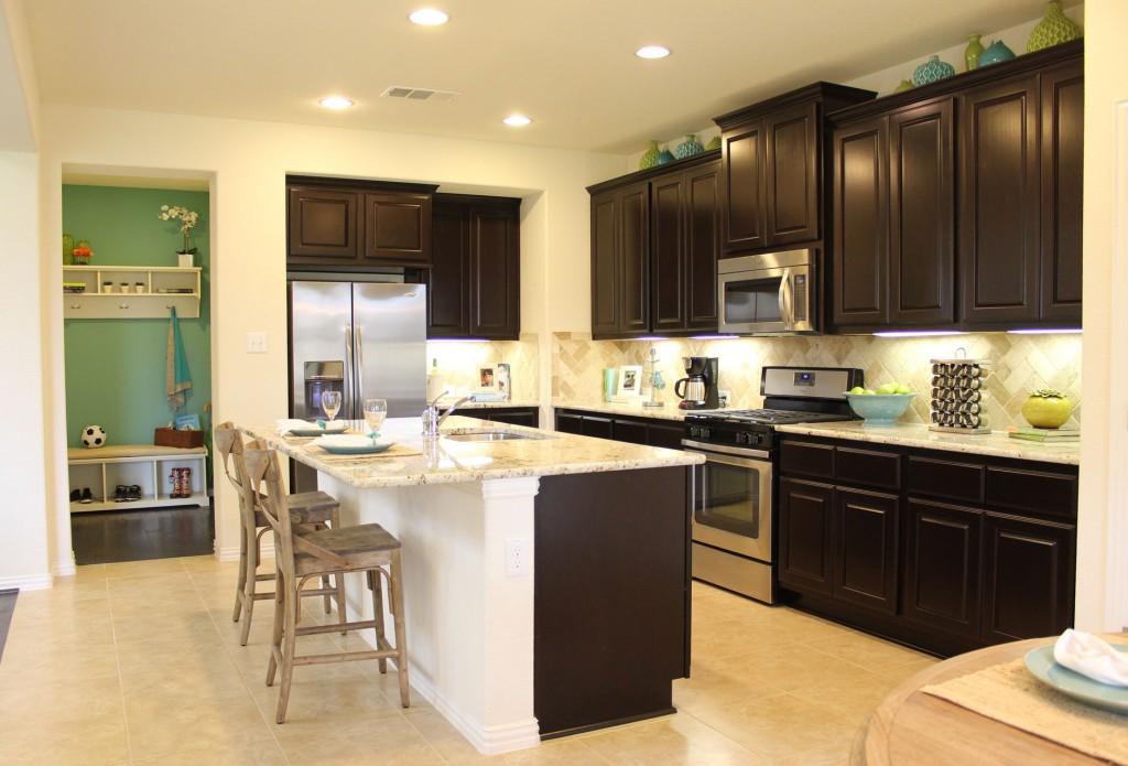 Burrows Cabinets kitchen cabinet 20 with dark Espresso stain