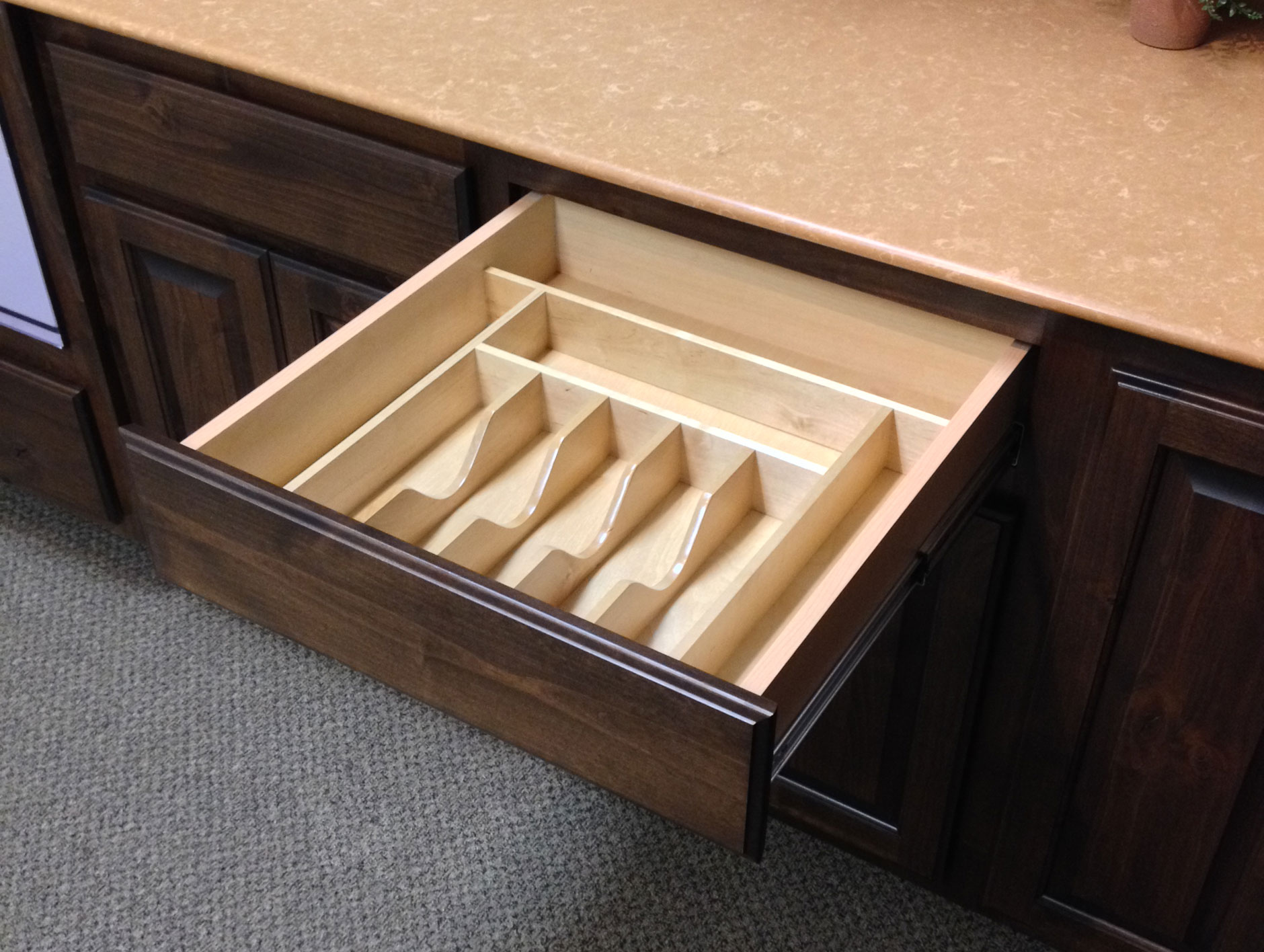 silverware and cutlery drawer insert - burrows cabinets